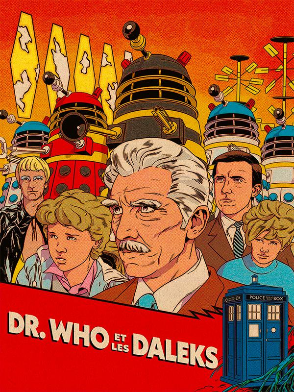 Affiche Dr Who contre les Daleks